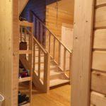 Лестница из дерева. Сосна