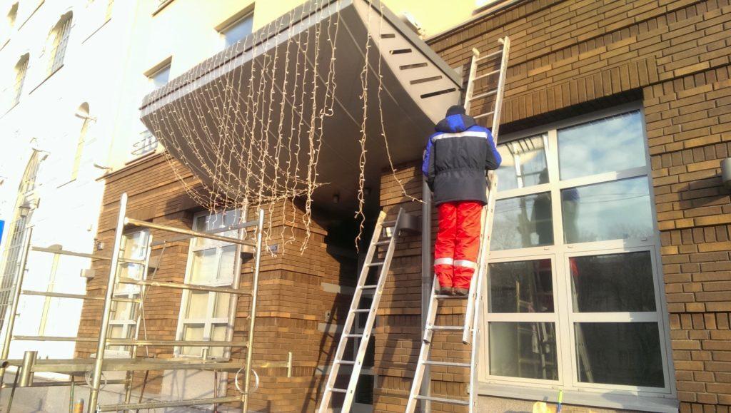 Работа с приставных лестниц